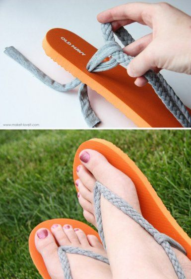 Hey, this is how I can make those dumb flip flops fit—rip out the too-small st…