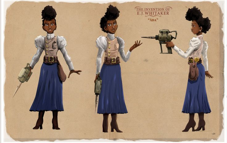 The Invention of E.J. Whitaker's Character Design for Ada | Pencils & Inks by Mark Hernandez | Colors by Hasani McIntosh