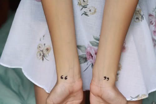On the sides of my neck under my ears.  PERFECT!  SDK Quotation marks: | 65 Totally Inspiring Ideas For Wrist Tattoos