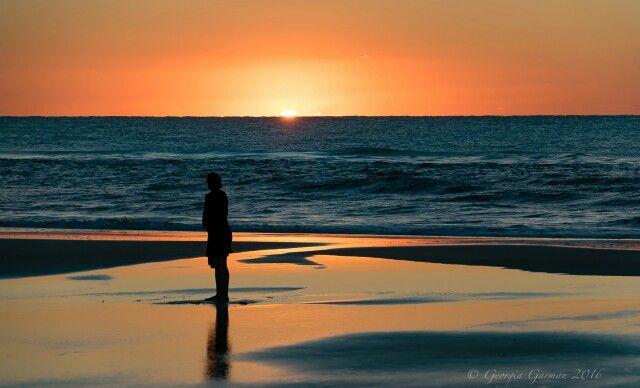 Sunset at 75 Mile Beach,  Fraser Island