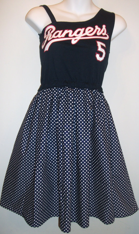 Order your custom Rangers Game Day Dress Today by dollhousedecortx, $59.95