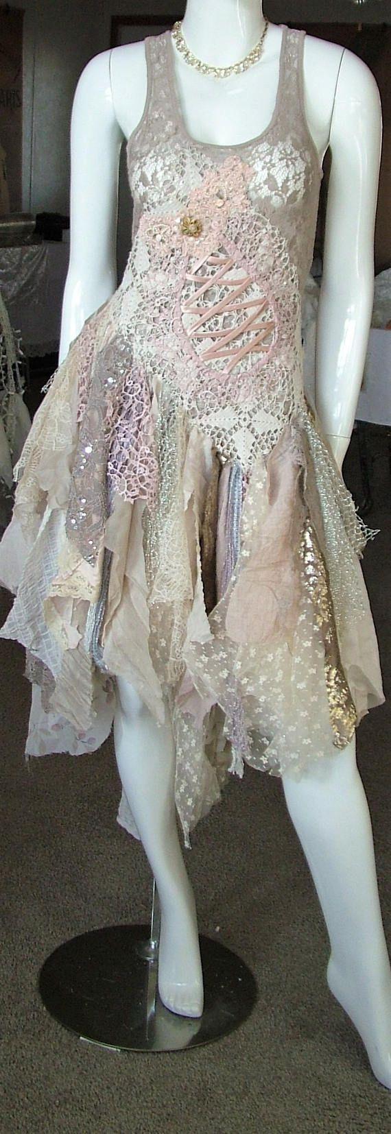 #vintageinspired  #ivory #weddingdress #brown #pink #ivory #oneofakind #unique #alternative