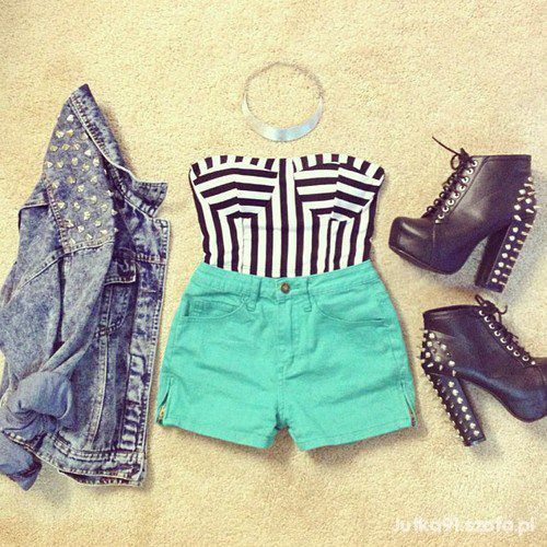 #mint #stripes #jeans #litas #outfit