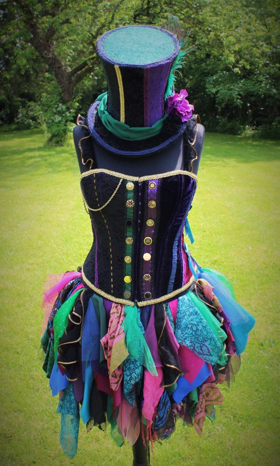 Hand Made Mad Hattress Costume. Bespoke by FaerieInTheFoxglove