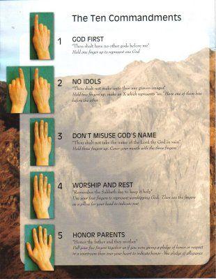 Teaching the 10 Commandments