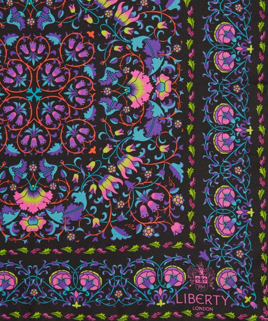 Liberty London Black Lodden Print Silk Scarf | Silk Scarves by Liberty London | Liberty.co.uk