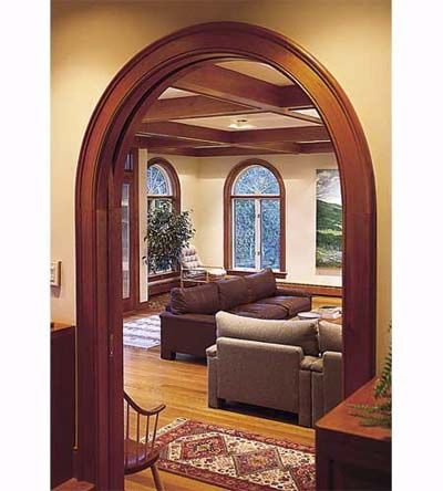 Top 25 ideas about craftsman interiors on pinterest wood for Wooden arch designs in living room
