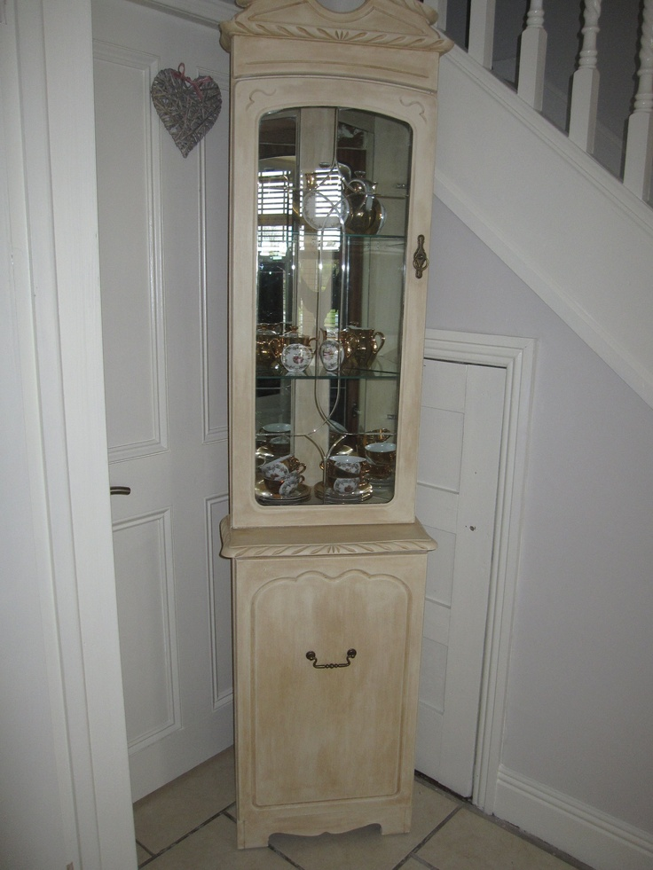Pine corner unit reloved with Antique cream and dark wax, painted by Dear lilly