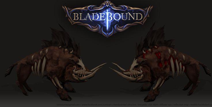 Bladebound Handpainted Wild Hog www.facebook.com/zunioart