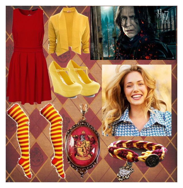 Date with Severus Snape by slytheriner on Polyvore featuring TFNC