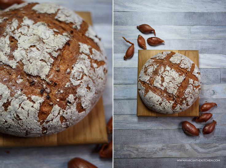 Chleb cebulowy pszenny bez wyrabiania - na drożdżach. Chleb z dodatkiem smażonej cebuli.Przepis na chleb pszenny z piekarnika.