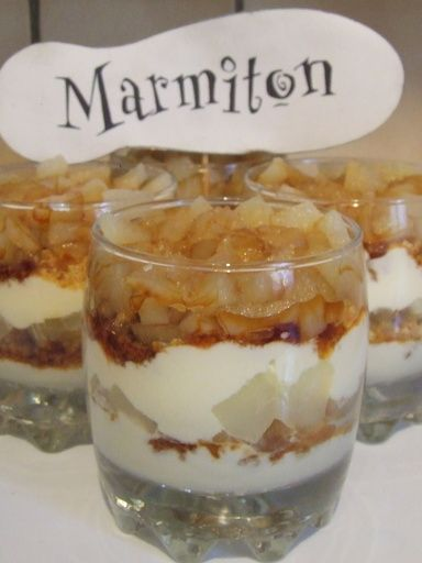 Verrine Mascarpone Poire Caramel - Recette de cuisine Marmiton : une recette