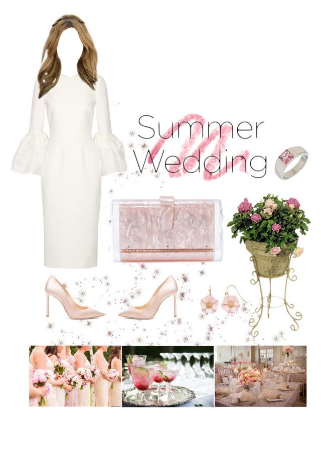 """Say ""I Do"" *2"" by kryssicha on Polyvore featuring Roksanda, Jimmy Choo, Edie Parker, Cartier and LC Lauren Conrad"