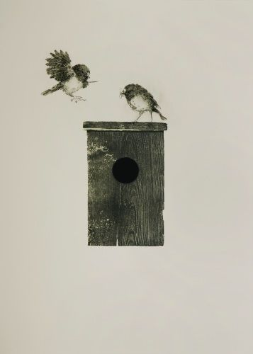 Ben Reid, Thanks To The Tomtit, Drypoint and intagilo on 685 x 525 mm paper, from an edition of 10, 2009. Contact gallery regarding a...