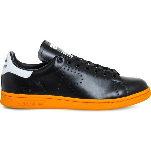 Adidas X Raf Simons Stan smith x raf simons leather trainers ($174) ❤ liked on Polyvore featuring shoes, sneakers, leather sneakers, low profile sneakers, adidas shoes, leather low tops and low profile shoes