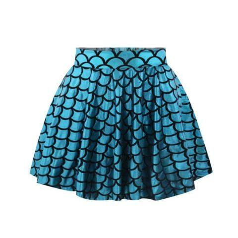 Aqua Mermaid Skirt - Rebel Style Shop - 1