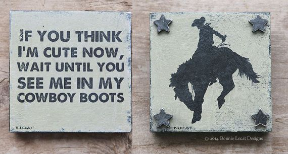 Little Cowboy Gift Set // Baby Boy Gift Set // by bonnielecat, $60.00