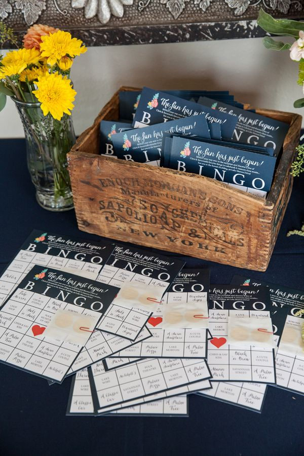 wedding reception bingo, photo by Justin DeMutiis Photography http://ruffledblog.com/sorosis-building-wedding #weddingideas #papergoods