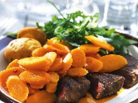 Morotssallad till grillat kött