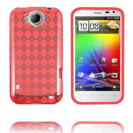 Tuxedo (Punainen) HTC Sensation XL Silikonisuojus