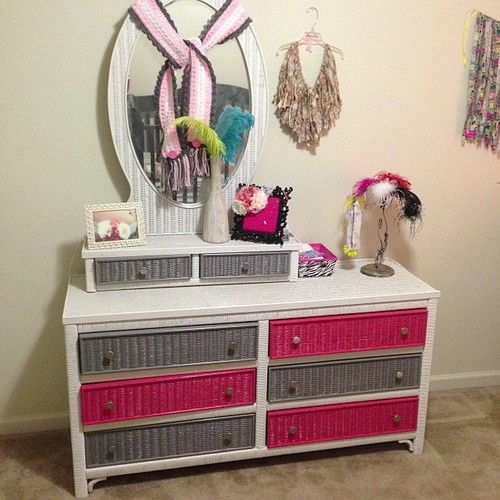 Here's a picture of my Lala's wicker dresser, finally. I kept forgetting to…