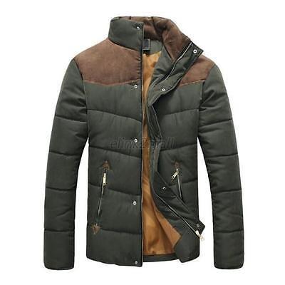 Winter Men's Coat Warm Snow Jacket Down Cotton Outwear Short Parka M L XL XXL