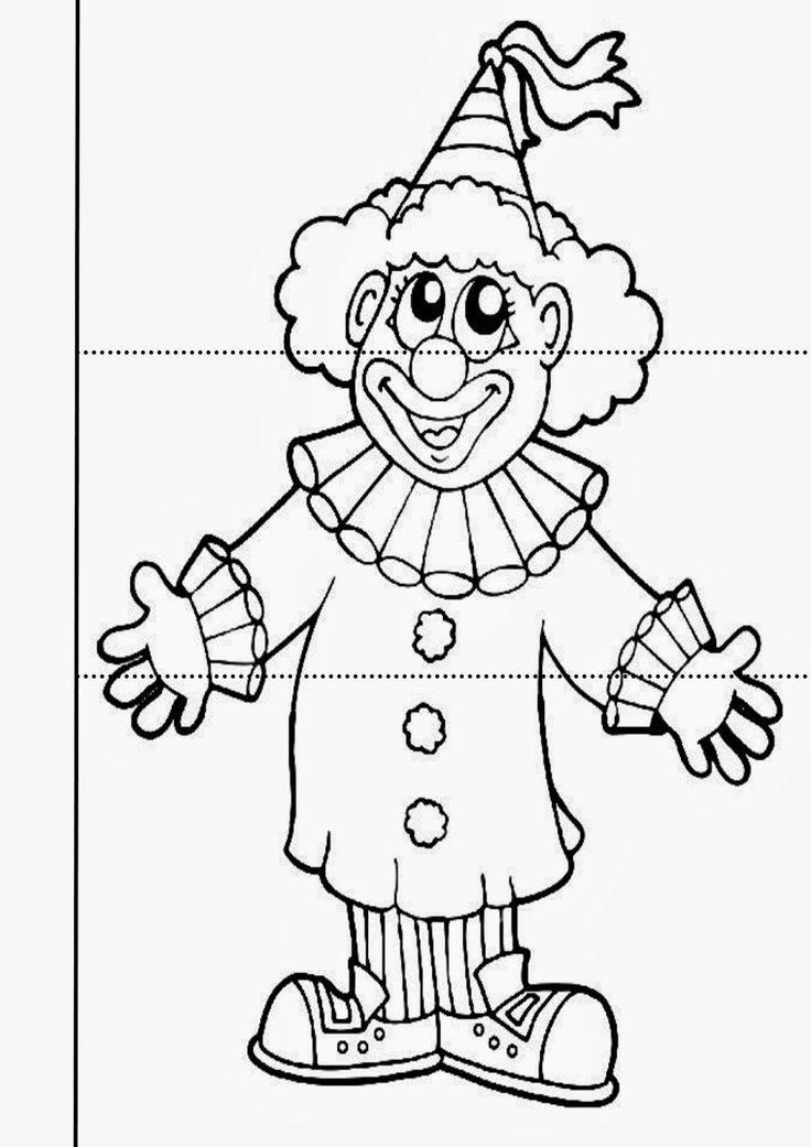 art deco clown coloring pages - photo#14