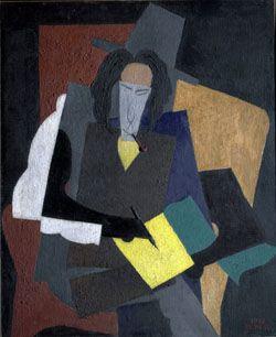 Диего Рибера. Портрет Эренбурга. 1915. Музей Медоуз (США)