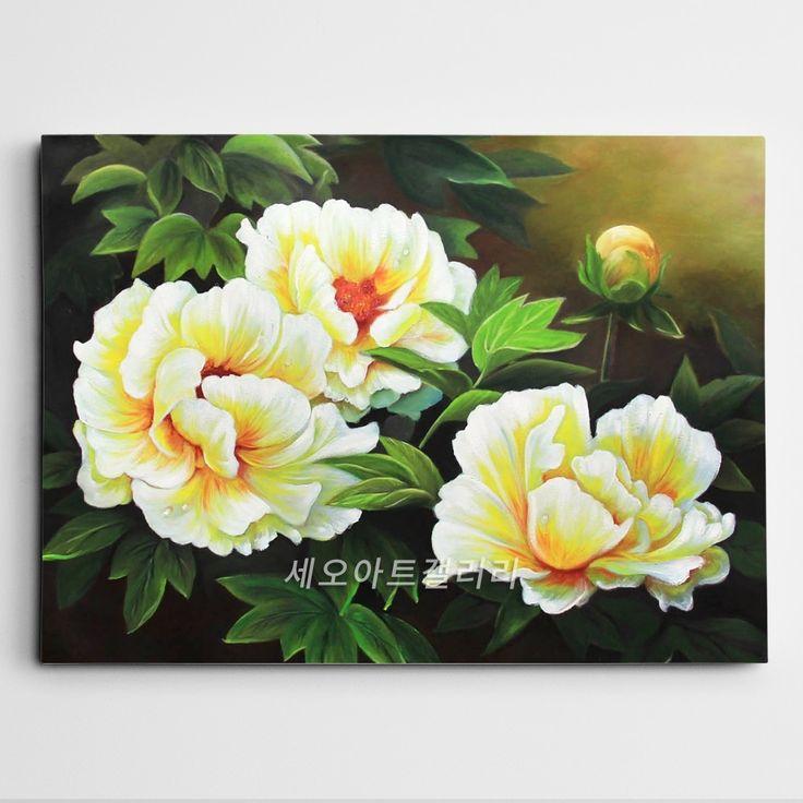 꽃의 여왕이라 불리는 모란꽃 (목단꽃) 그림입니다. 우리나라에서는 주로 부귀화로써 돈들어오는 그림 혹은 재물운을 향상시키기 위해 풍수인테리어 그림으로써 많이들 구입하시는데요, 빨간색과 분홍색의 모란꽃을 그린 그림이며, 상당히 큰 사이즈입니다.