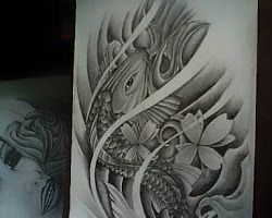 Fish Black and Grey Desain