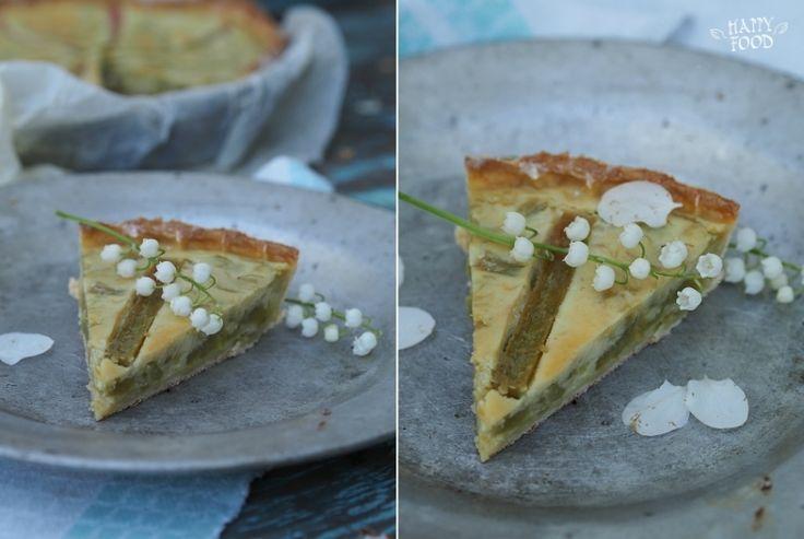 HAPPYFOOD - Открытый пирог с ванильным кремом и ревенем