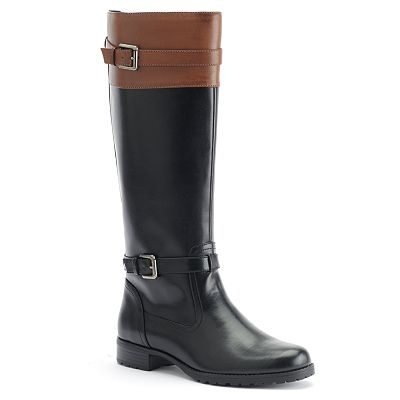 Chaps Chaya Tall Boots - Women: Tall Boots, Boots Woman, Shoes Boots, Cute Boots, Tans Boots, Woman Shoes, Fall Boots, Black Boots Flats Tall, Riding Boots Pos