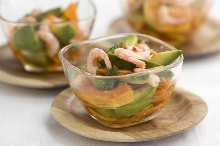 Prawn & Papaya with Tracklements Red Pepper & Chilli Jelly Dressing #...