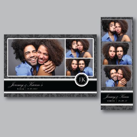 An elegant wedding, birthday, engagement photobooth template. Fully layered PSD files, with background and overlay files.  Easy DSLR Booth zip files!