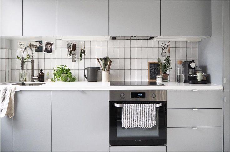 Scandi inspired white kitchen in London