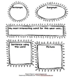 free printable--end of year vocab graphic org