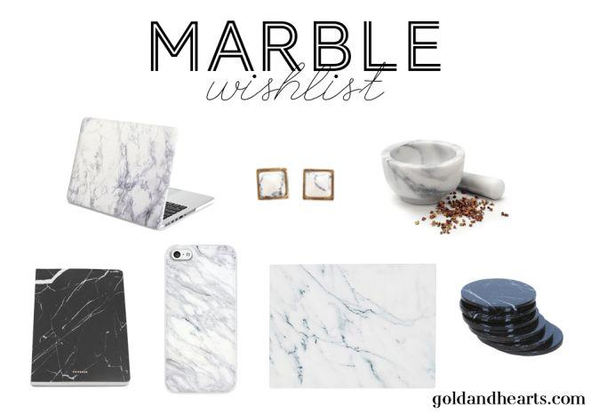 Every millennial's marble wishlist!
