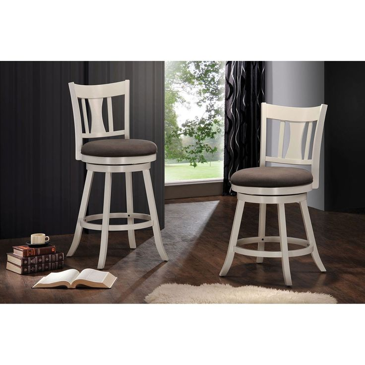 Tabib Fabric and White Wood Counter Height Chair with Swivel  Fabric    White  20LBest 25  Counter height stools ideas on Pinterest   Counter stools  . Fabric Covered Counter Height Chairs. Home Design Ideas