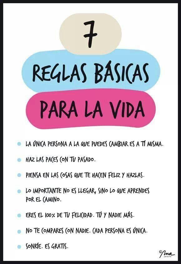 7 reglas básicas para la vida!                                                                                                                                                                                 Más