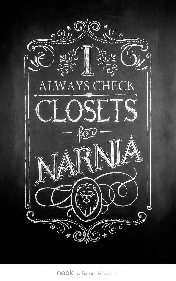 I always check closets for Narnia.
