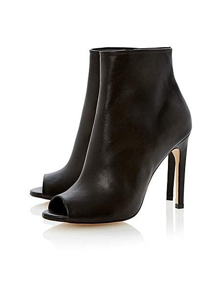 Chloee leather stiletto peeptoe court shoes