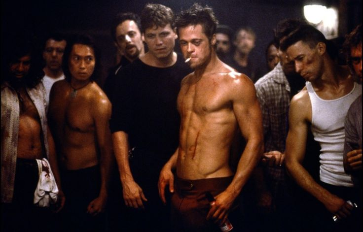 Fight Club (1999) David Fincher. Starring Brad Pitt, Edward Norton & Helena Bonham Carter. If the half naked screen shot of Brad Pitt doesn't sell the film to you, then the psychological drama and stunning performances will. Just remember, the first rule of Fight Club is: You do not talk about Fight Club.
