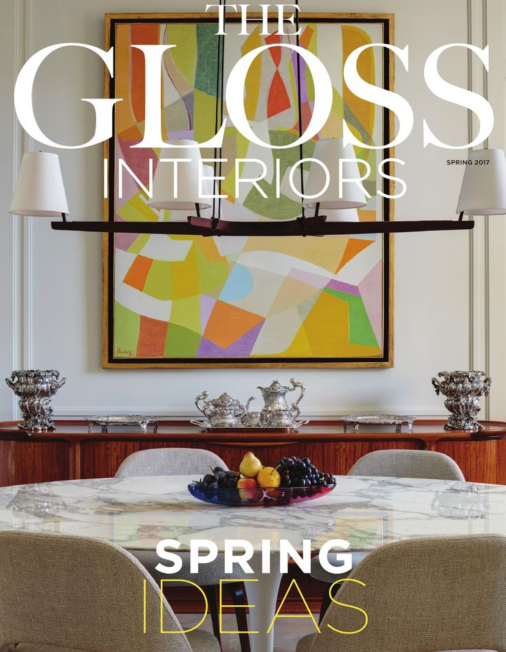 We're delighted to see Othello Radou's 'La Danse de Printemps', previously with John Adams Fine Art, featured in 'Master Blend' in The Gloss. We're especially delighted to see it gracing the front cover!  Photographs by Luke White for The Gloss Interiors Magazine, Spring 2017.