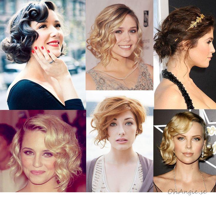 frisyrer till bröllop för kort hår / short wedding hair styles