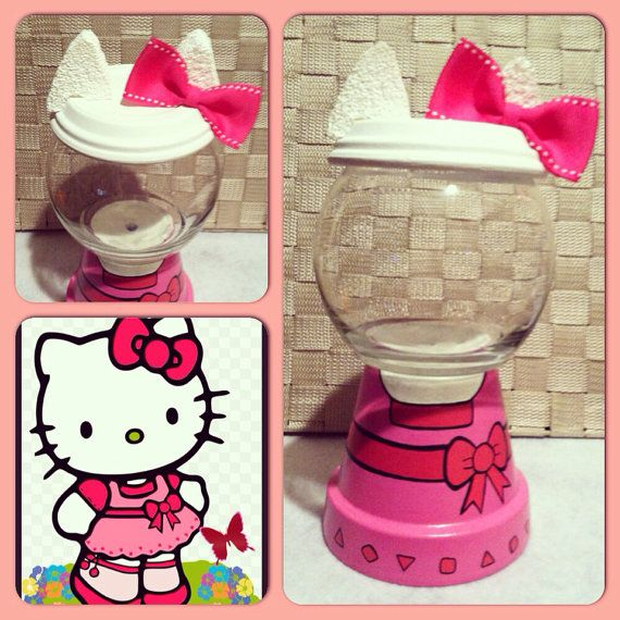 Hello Kitty Inspired Candy Jar by GCraftyHands on Etsy