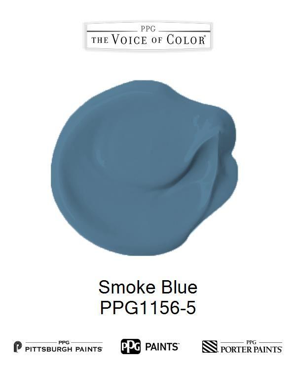Smoke Blue Pittsburgh Paint Color Blue Paint Colors Blue Painted Walls