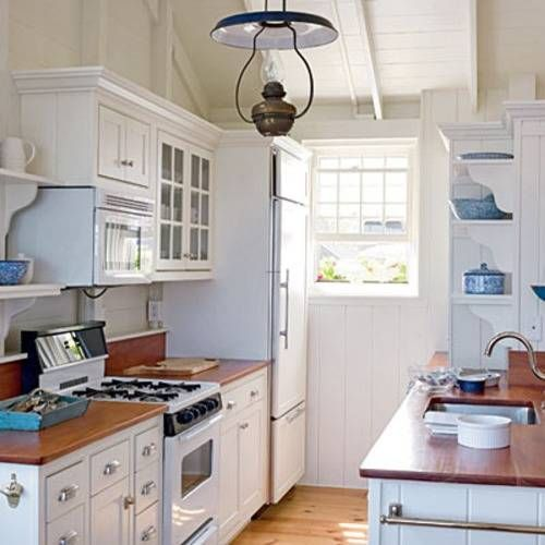 kitchen design ideas for small galley kitchens - Tiny Country Kitchen Design Ideas