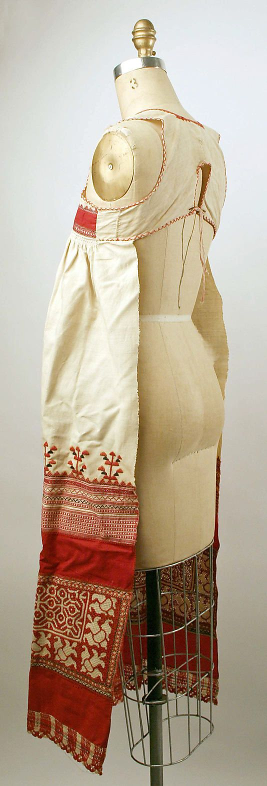 Apron Date: 19th century Culture: Russian Medium: linen, cotton