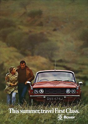 ROVER P6 2000TC 2000 RETRO A3 POSTER PRINT FROM CLASSIC 70's ADVERT