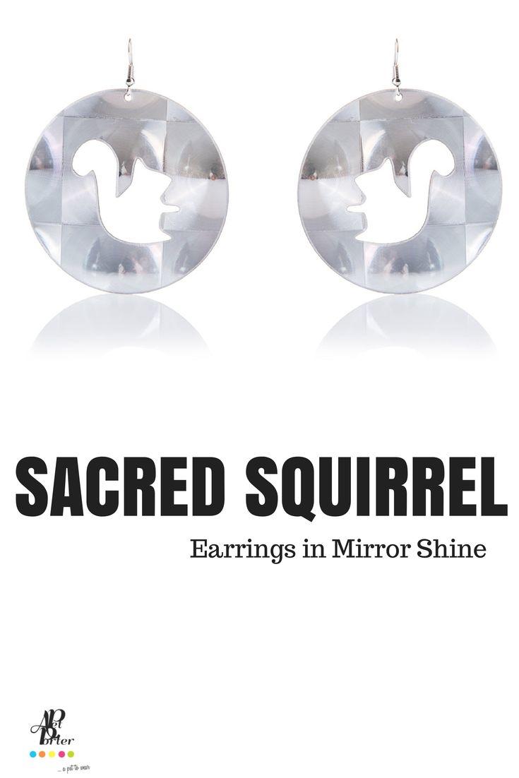 Ultra light plastic earrings in mirror shine color.